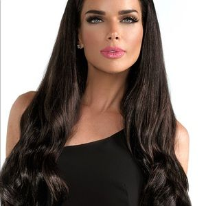 """HALO COUTURE 20"""" dark brown #2 extensions near new"""